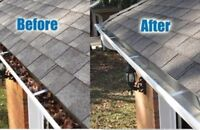 Get your eves troughs cleaned  before winter.  Free estimates
