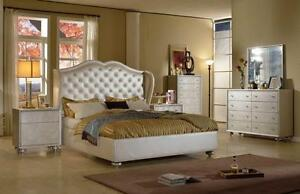 8 pcs set (Queen Bed, 2 night tables, dresser, mirror & Chest)