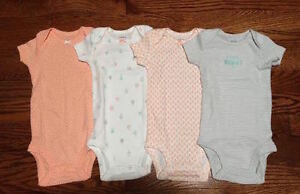 NEW Carter's Baby Girl Oneies/Set of 4