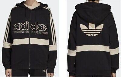 Adidas Originals Trefoil Hoody (Adidas Originals Trefoil Zip Hoody Schwarz Beige viele Größen NEU)