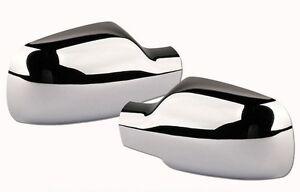 2 coques de retroviseur pour renault megane 2 chrome scenic 2 clio 3 ph 1. Black Bedroom Furniture Sets. Home Design Ideas