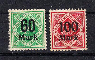 Württemberg Briefmarken 1922 Dienstmarken Ziffern Mi.Nr.166+67