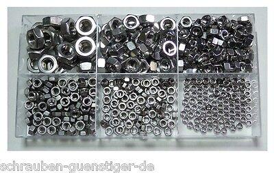 470 Teile Sortiment Sechskantmuttern DIN 934 M3 bis M10 Edelstahl V2A