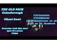 The Old Nick Gainsborough Ghost Hunt