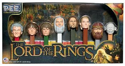 LORD OF THE RINGS PEZ ~ COLLECTOR'S SERIES ~ 8 DISPENSERS BOXED LTD ED Tolkien