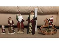5 Father Christmas ornaments.