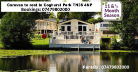 ***Temporary accomodation*** 3 bedroom static caravan in Coghurst park TN35 4NP