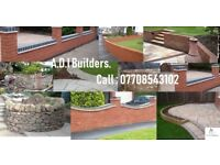 A.D.I Builders - new builds, garden walls, landscaping, fencing, retaining walls, monoblocking