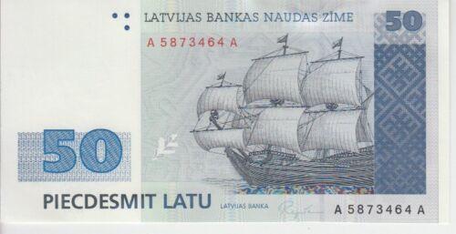 Latvia Banknote P46 50 Lati 1992, UNC
