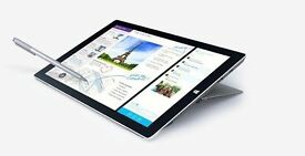 Surface pro 3, fast i7 Cpu, 8gb Ram, 256gb SSD with a huge bundle worth £££'s