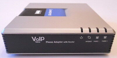 Cisco/Linksys SPA2102 VoIP Phone Adapter Router 2FXS (Unlocked)