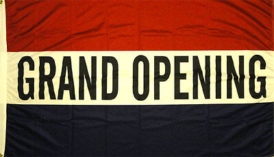 New 3ftx5ft Grand Opening Open Sign Banner Flag Better Quality Usa Seller