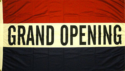 NEW 3ftX5ft GRAND OPENING OPEN SIGN BANNER FLAG better quality USA