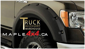 2009-2014 Ford F-150 4pcs Pocket-Riveted Textured Fender Flares Downtown-West End Greater Vancouver Area image 1