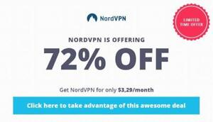 #1 VPN Service Provider - Nord is  offering 72% off for Limited Time