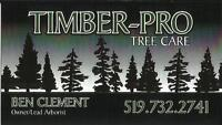 TIMBER-PRO TREE CARE***FULLY INSURED AND LICENSED***