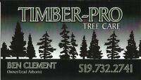TIMBER PRO TREE CARE***FULLY INSURED & LICENSED****