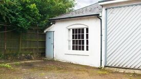 Workshop/office/store to let. Free parking. Easy terms. Quiet location