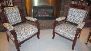 King & Queen Antique Parlour Chairs