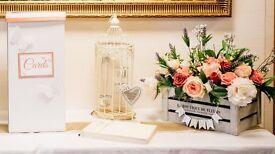 Vintage style boxed flower displays - ideal splash of colour