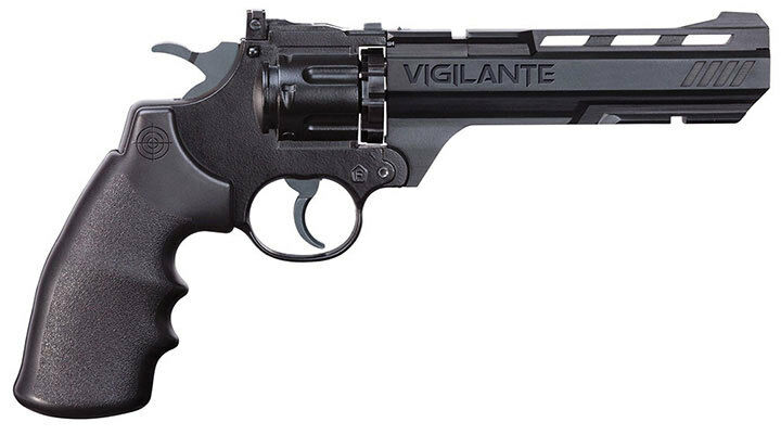 Crosman CCP8B2 Vigilante (Black)Co2 Powered Semi-Auto Dual Ammo Airsoft Revolver