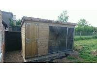 Outdoor kennel with run