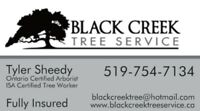 TREE REMOVAL, STUMP GRINDING, PLANTING- BLACK CREEK TREE SERVICE