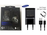 Original Quality Samsung S8 / S8 Plus EU Fast Main Charger With 1.2M Type-C Cable Black