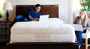 Brand new saatva queen size mattress with adjustable base