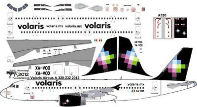 Volaris Airbus A 320 Decals For Revell 1 144 Kit