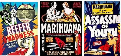 REEFER MADNESS 1936,MARIHUANA 1936,ASSASSIN OF YOUTH 1937, HEMP FOR VICTORY 1943