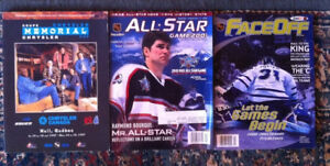 Various NHL Memorial Cup All-Star Game hockey magazines lot