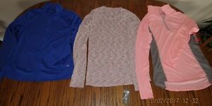 2 NEW and 1 (used just once) young lady's light sport's blouses