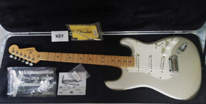 Mint 2008 Fender USA Standard Strat Pearl Blizzard and SKB case