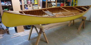 Classic 16' Wood and Canvas Canoe