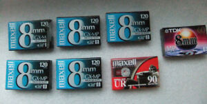 NEW 8mm Maxell Camcorder Videotapes Bundle Package