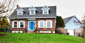 Cape Cod in Quispamsis with Water Views & HUGE detached Garage