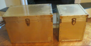 Two Metal Decorative Trunks - $75 & $45