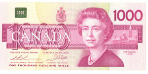 Authentic 1000 Canadian Dollar Bill