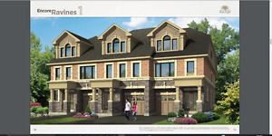 luxury townhouse END UNIT in heart of woodbridge assignment sale