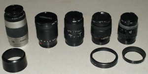 Minolta & Tamron Lenses for Minolta & Sony Alpha A-Mount Cameras