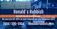 Ronald's Rubbish Removal - Save 30-50% Today!