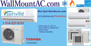 Heat Pump / Air Conditioner Wall Mount Split / works at -30°C!