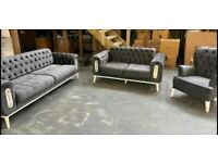 Turkish Fabric Sofa Beds Available 3+2/3+2+1 Seater Book It Now