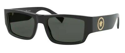 Versace Men VE4385 GB1/81 56mm Sunglasses Black / Polarized Grey [56-18-135]