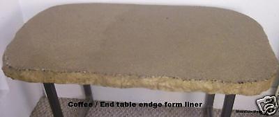 Concrete Split Granite Coffee End Table Edge Form 2