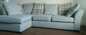 DFS Eleanor RHF ARM Open end Corner sofa SILVER-Graphite Scatters