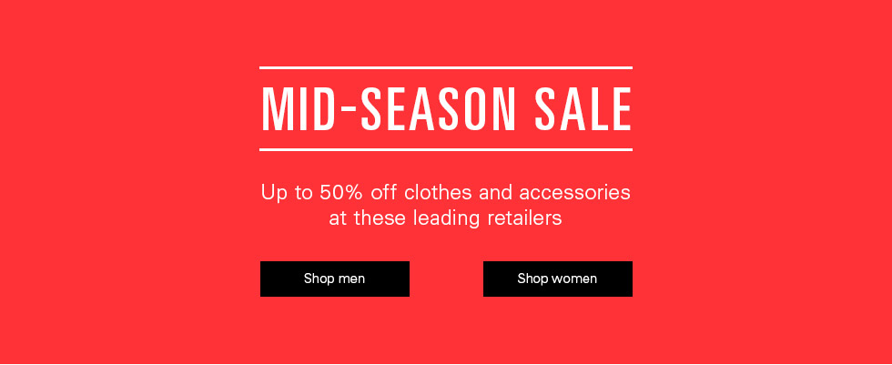Up to 50% off men's & women's fashion, shoes, bags & more