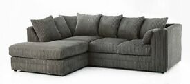 NEW DYLAN JUMBO GREY CORNER or 3+2 SEATER SOFA | 1 YEAR WARRANTY | EXPRESS DELIVERY ALL UK