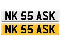 Cherished Private Number Plate - NK 55 ASK